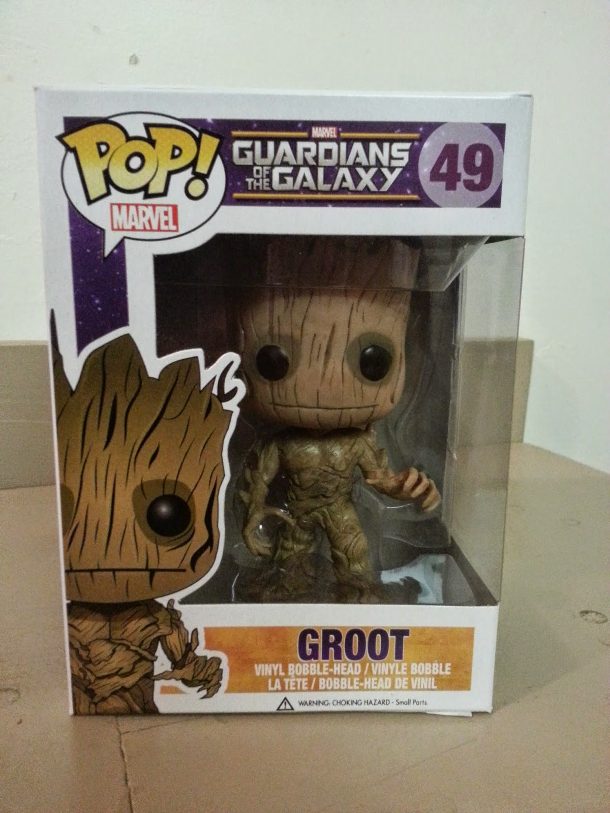 GROOT Guardians of the Galaxy Bobble Head Funko Pop Figure 3 Inch 2014
