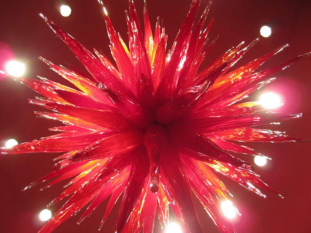 Ruby Red Icicle Chandelier, 2010 chihuly