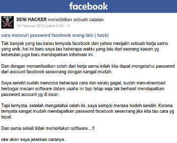 mendapatkan password Facebook