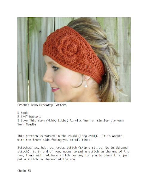 Crochet Headwrap Pattern: Free Crochet Headwrap Pattern by ...