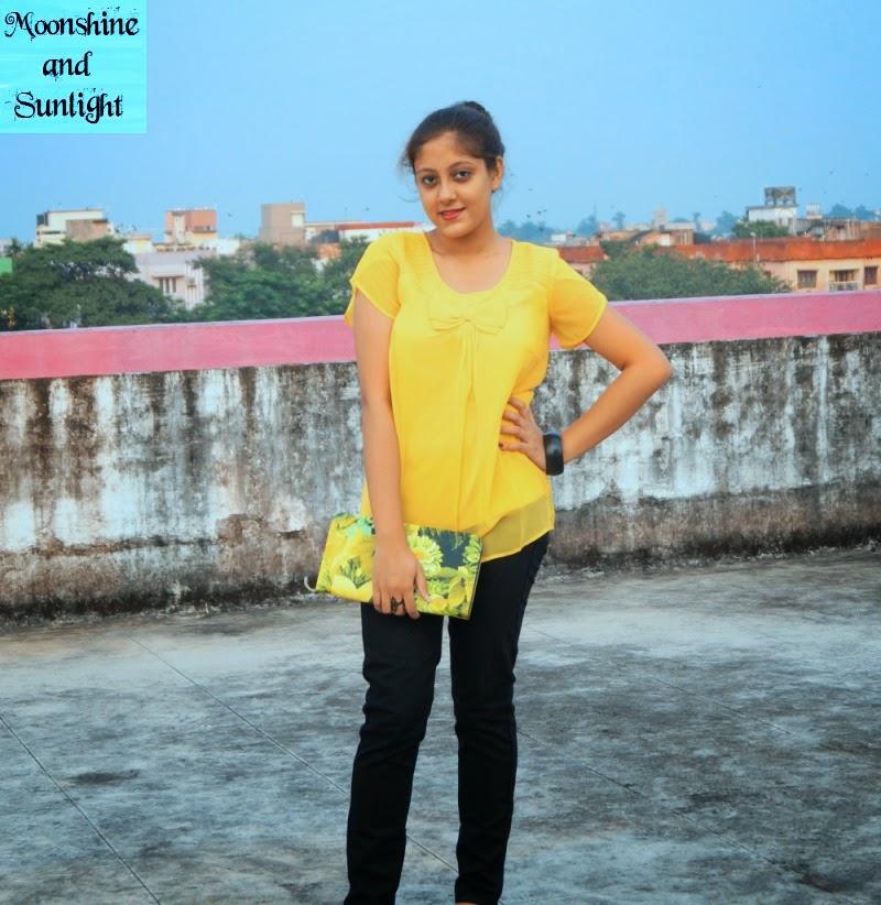 Indian fashion blog, kolkata : OOTD a little bit of sunshine