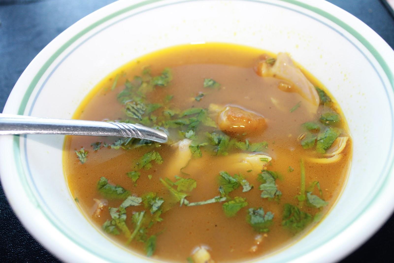 South Indian Chicken soup. | wat2cook.blogspot.com