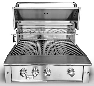 built in stainless grill
