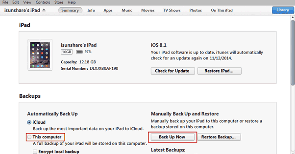 how to restore iphone with itunes manually