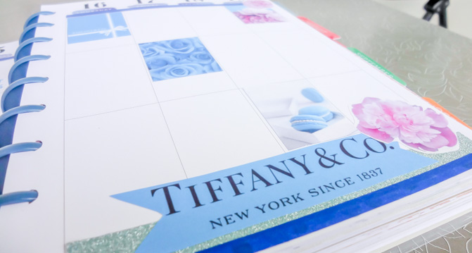 Tiffany's - planner decoration