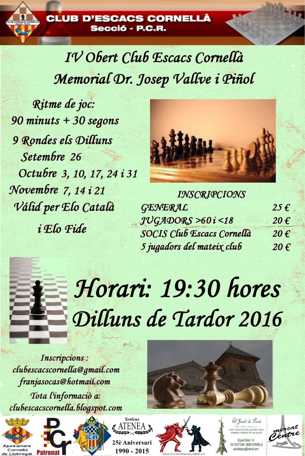 IV Obert Club Escacs Cornellà