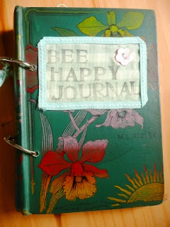vintage style bee happy journal