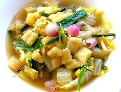 bac ha vietnamese taro stem alocasia odora soup recipe