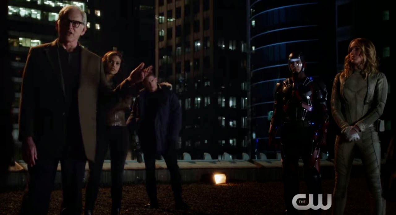 The CW's Legend of Heroes featuring Firestorm, Hawkgirl, Captain Cold, Heatwave, and White Canary