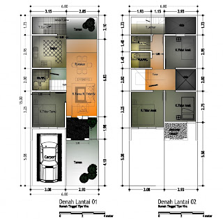 Gambar Denah Desain Rumah Minimalis