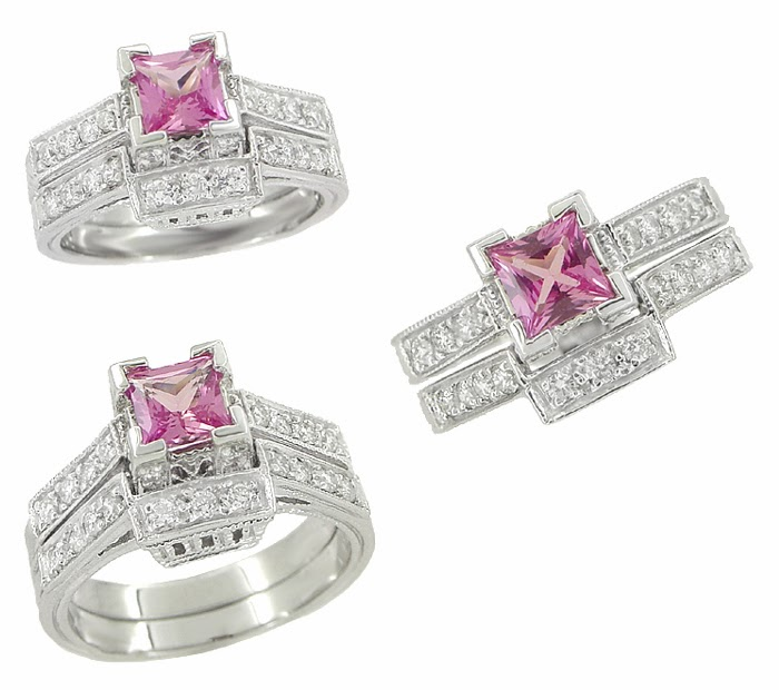Engagement ring pink sapphire engagement rings 64 for Pink diamond wedding rings