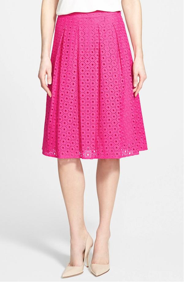 Spring - Summer eyelet skirt