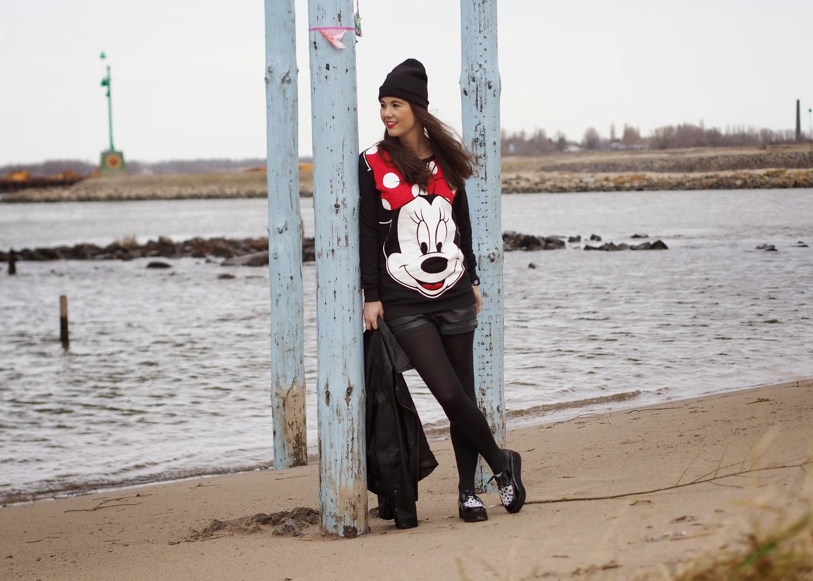 Creepers: H&M (old), shorts: Dept, Mickey Mouse jumper: Primark (now in stores), jacket: Goosecraft