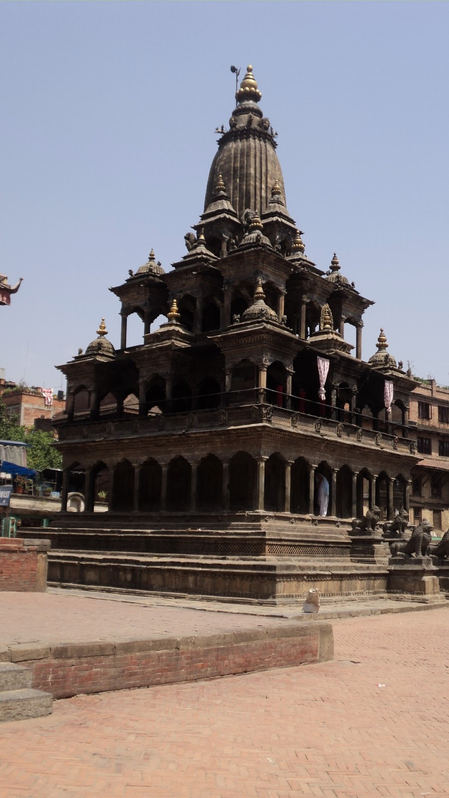 what i retain from raj s patter is that the temples in durbar square all date back to either the 6th or 17th century with major rebuilding all round after