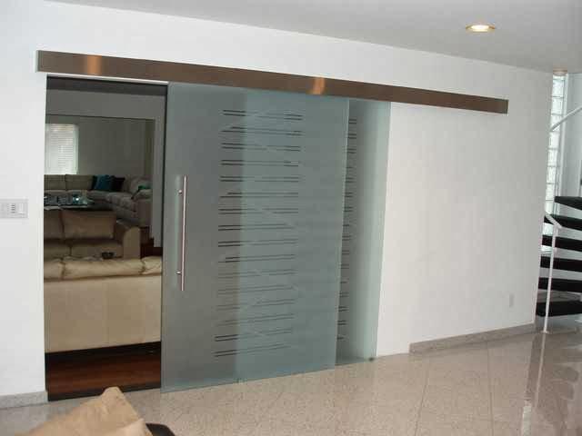 Sliding doors door made of glass