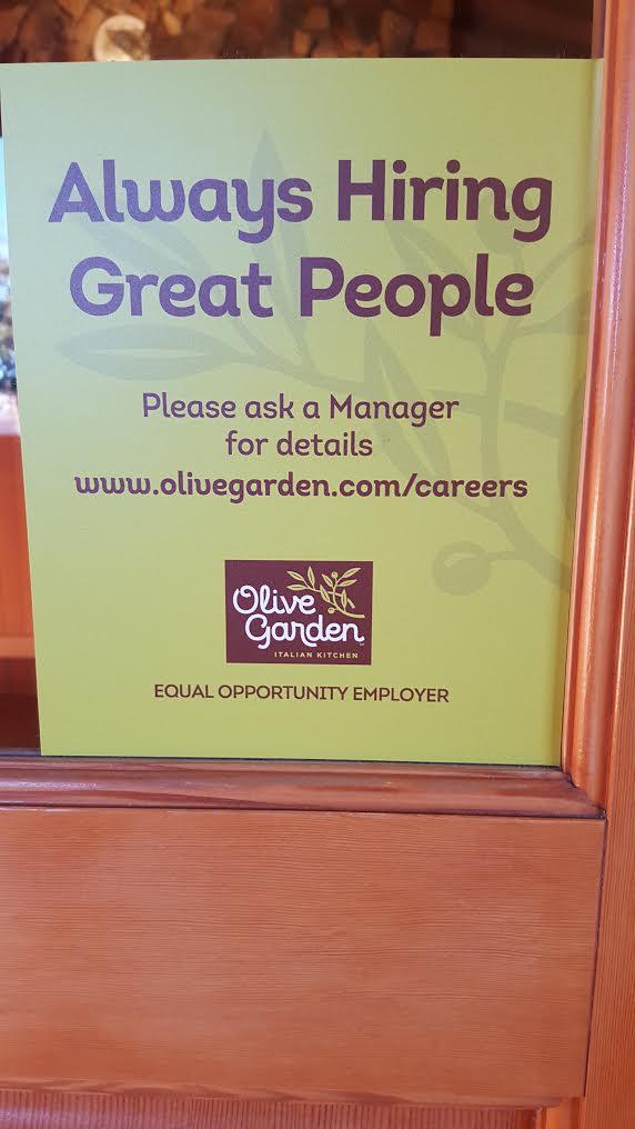 Desert Radio AZ - KDAZdb: Olive Garden Hiring