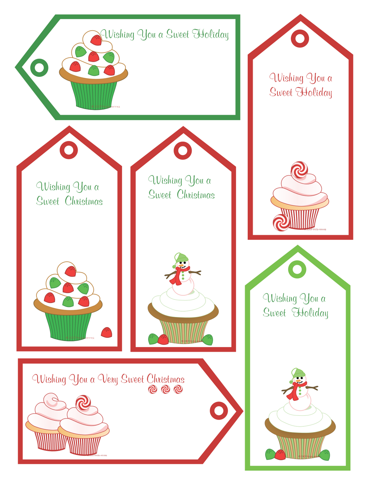 Exceptional image pertaining to printable christmas tags