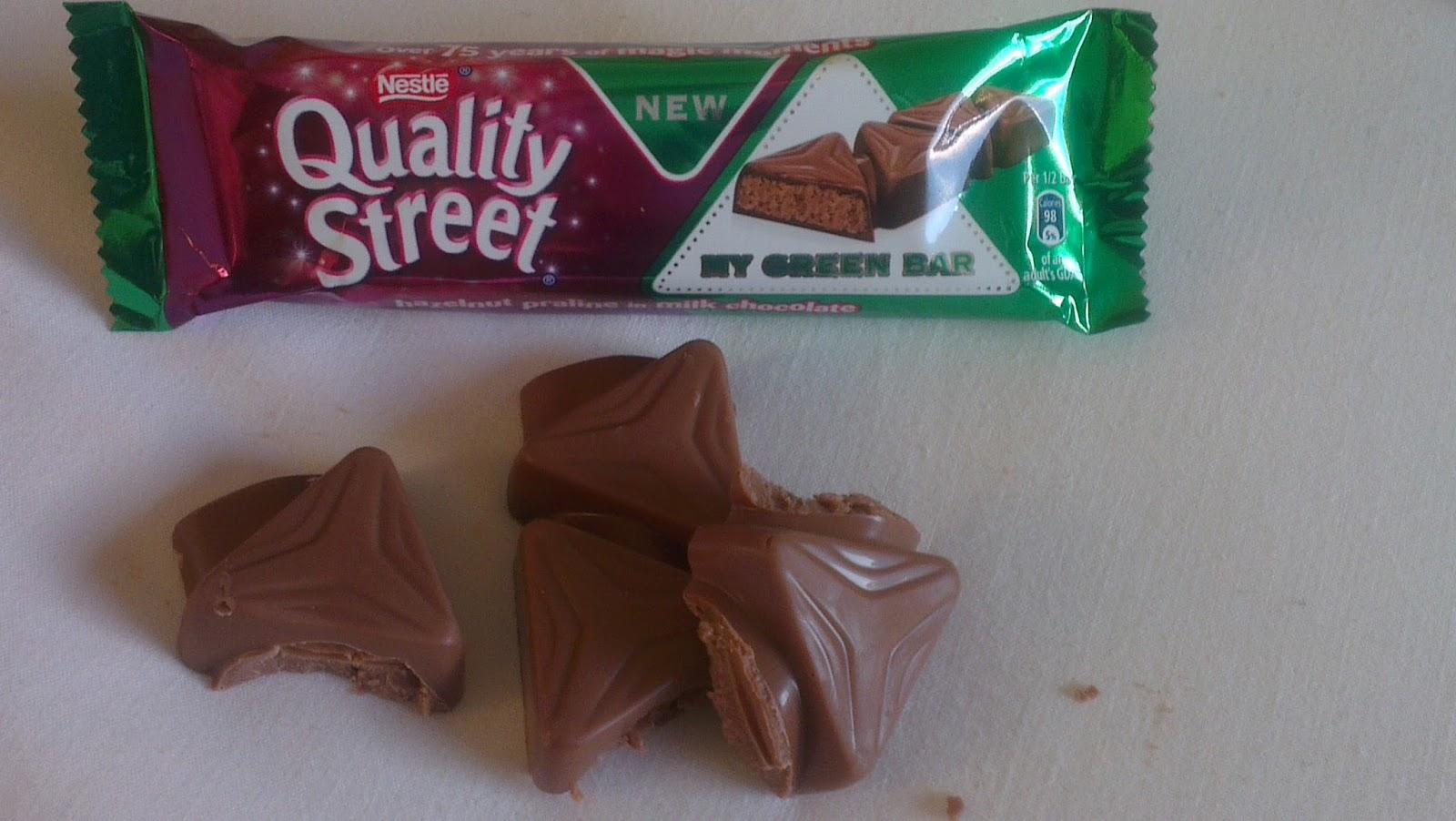 Kev's Snack Reviews: Nestlé Quality Street My Green Triangle Bar