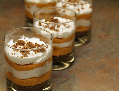 pumpkin cheesecake trifle - at www.turtlesandtails.blogspot.com