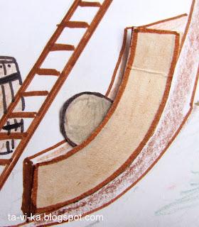 Картонный пиратский корабль