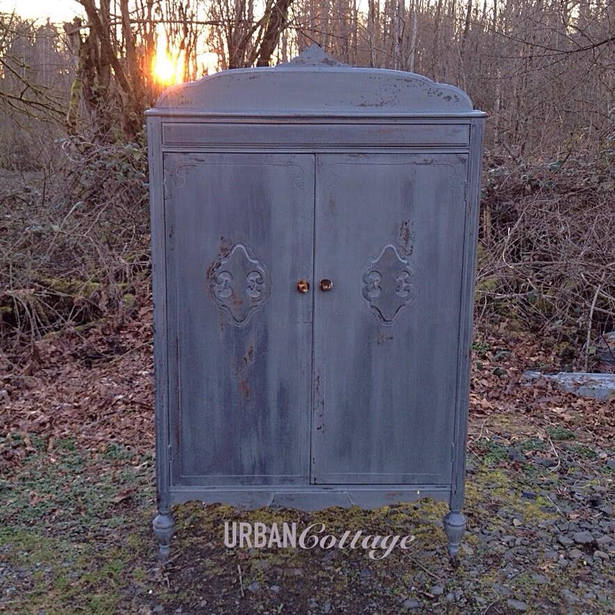 URBANCottage: Painted Antique Armoire