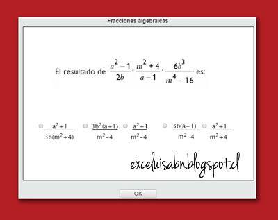 Fracciones algebraicas.
