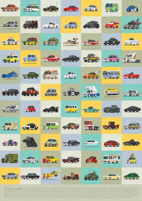 Ecto-1, Delorian, Turtle Van, Batmobile