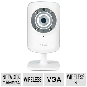 D-Link DCS-932L Day/Night Network Camera – Wireless VGA D-link cloud