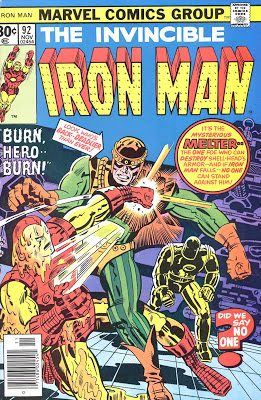 comic book cover of the Invincible Iron Man #92