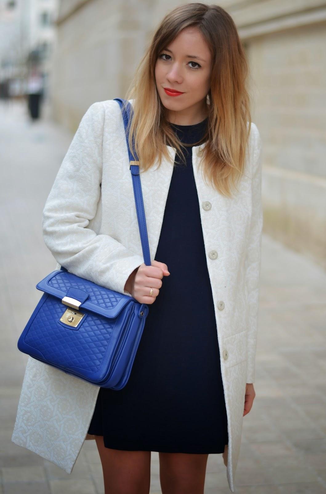 manteau motif brocard