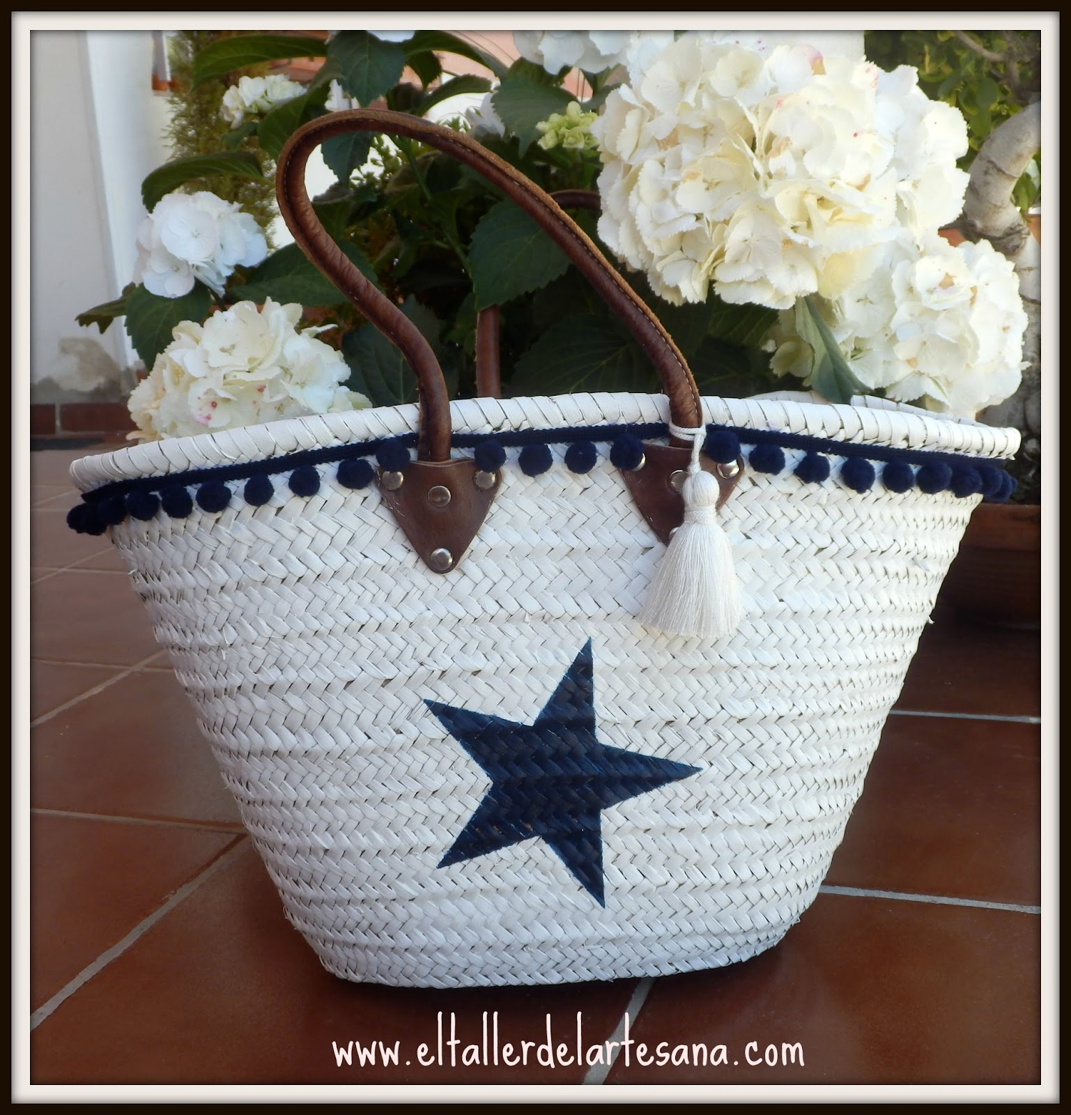 El taller de la artesana los capazos son para el verano - Decorar cestas de mimbre paso a paso ...