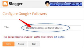 configure google+ followers gadget