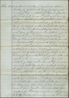 Page Co, VA Deed 1859 Fielding Jollett to James Franklin Jollett