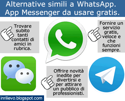 alternative simili whatsapp
