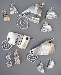 Silver Plate Scarf Pins and Earrings