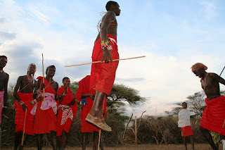 Saltos Masai Kenia