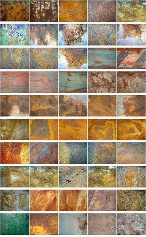 Rust Texture Background Set 1
