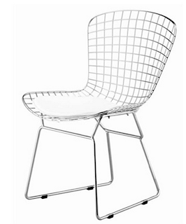 IN STYLE MODERN BERTOIA STYLE WIRE SIDE CHAIR