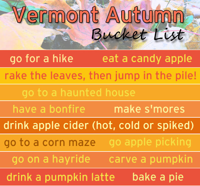 Vermont Fall Bucket List Autumn To Do