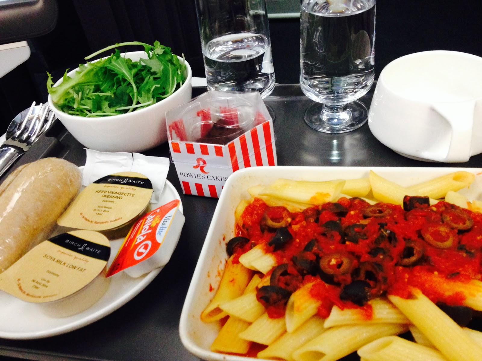 Qantas Premium Economy - Vegan meal
