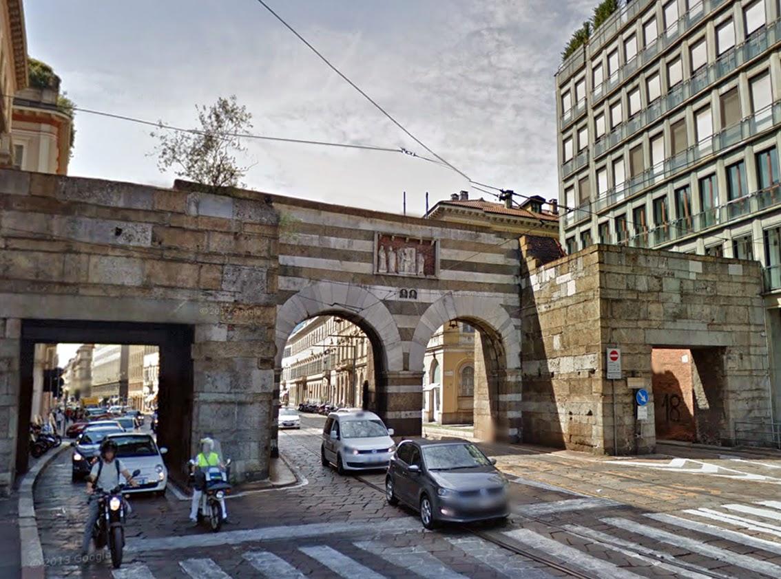 Milano prima e dopo archi di porta nuova - Via porta nuova milano ...