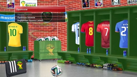 PES 2014 Fifa World Cup Dressing Room by Ykp-190302