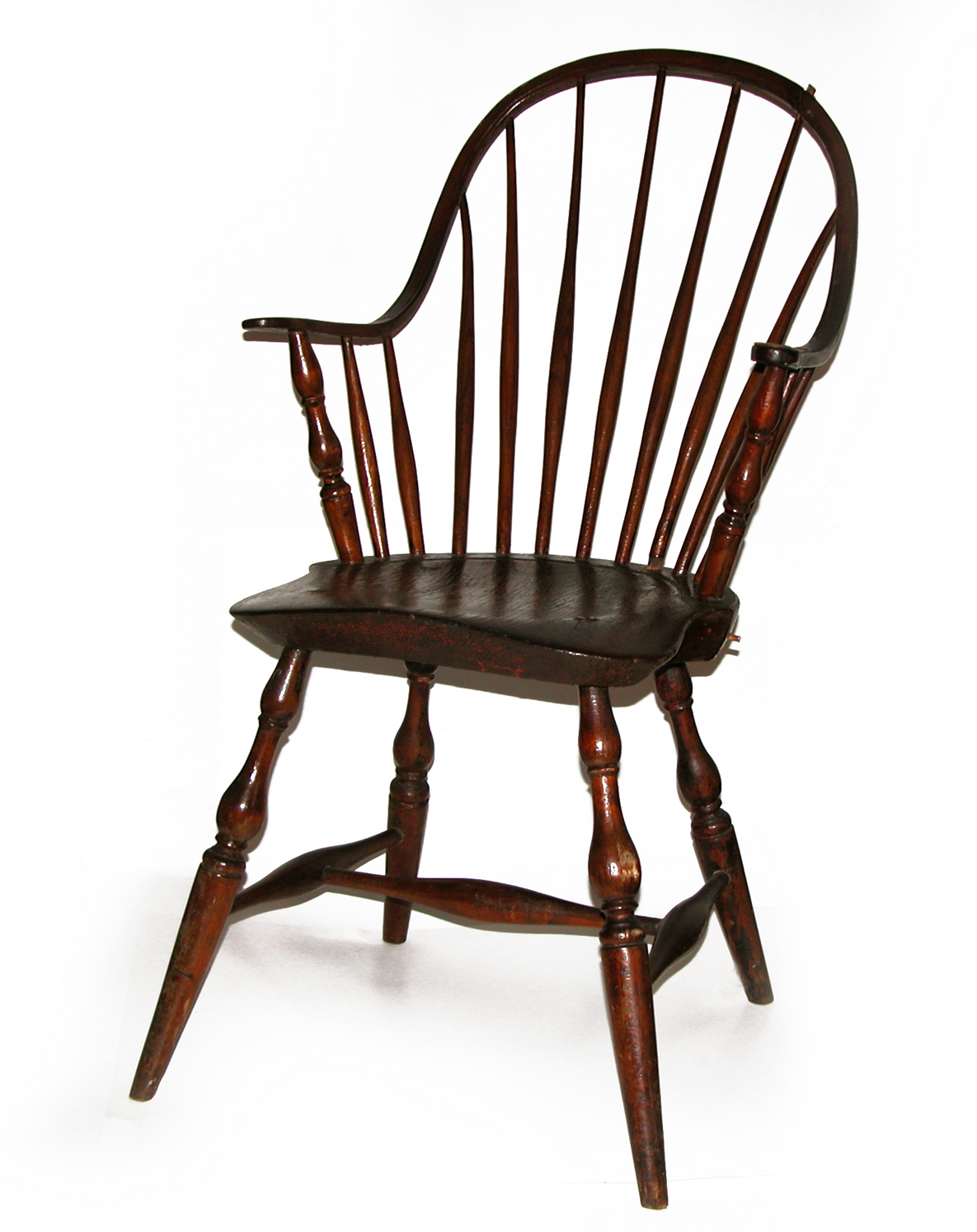 Contemporary Makers Antique Windsor Chair With Repairs