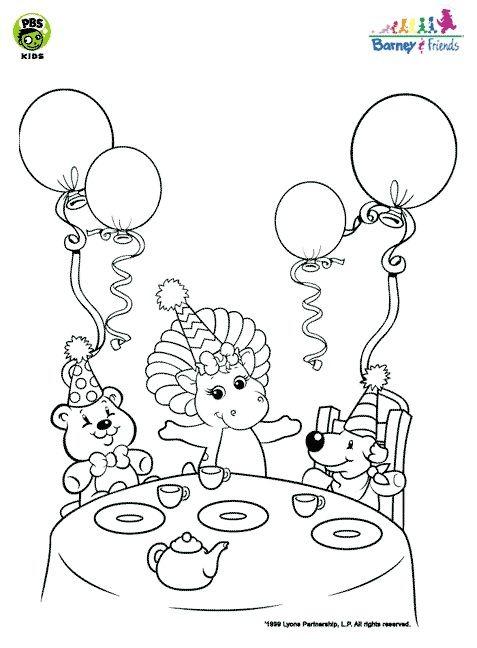 Desenhos Para Colorir boneco barney e amigos