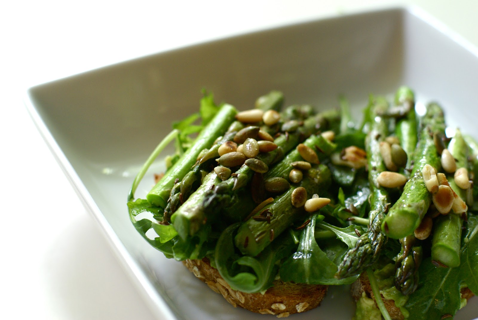 Avocado Asparagus Tartine Recipe — Dishmaps