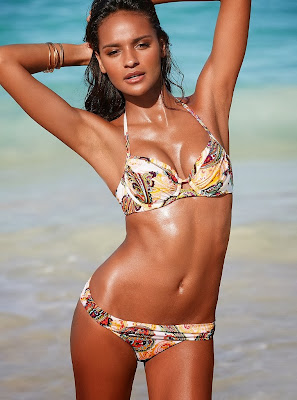 Gracie Carvalho hot posing for Victoria's Secret sexy bikini