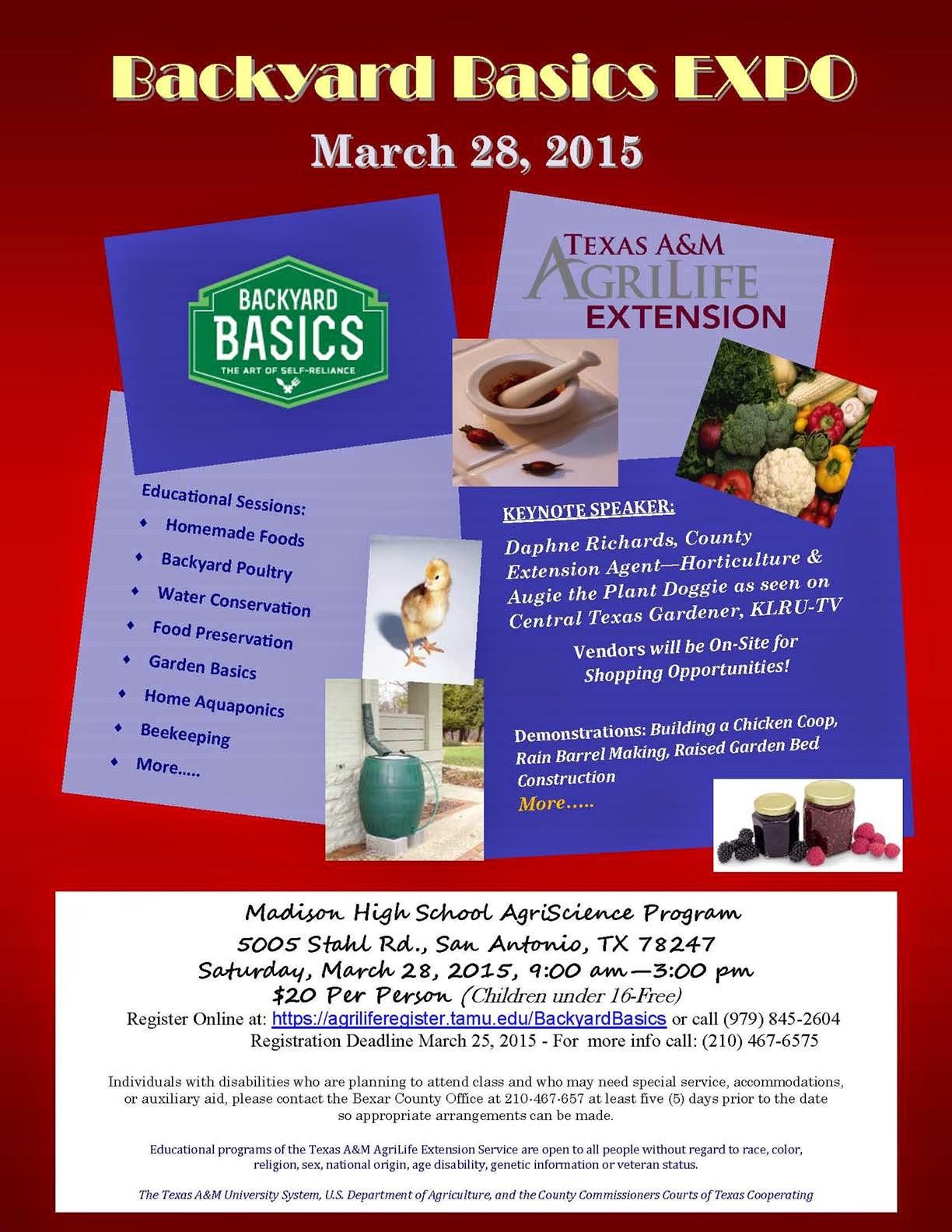Bexar County Entomology March 2015