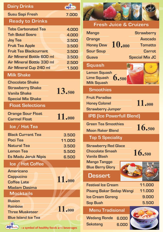 Menu Cafe Orange Bogor