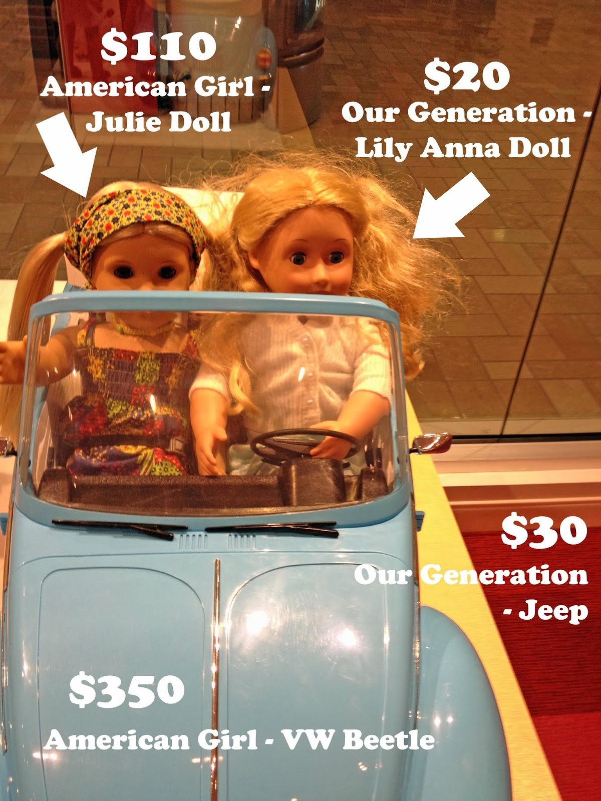 $350 VW beetle for American Girl dolls