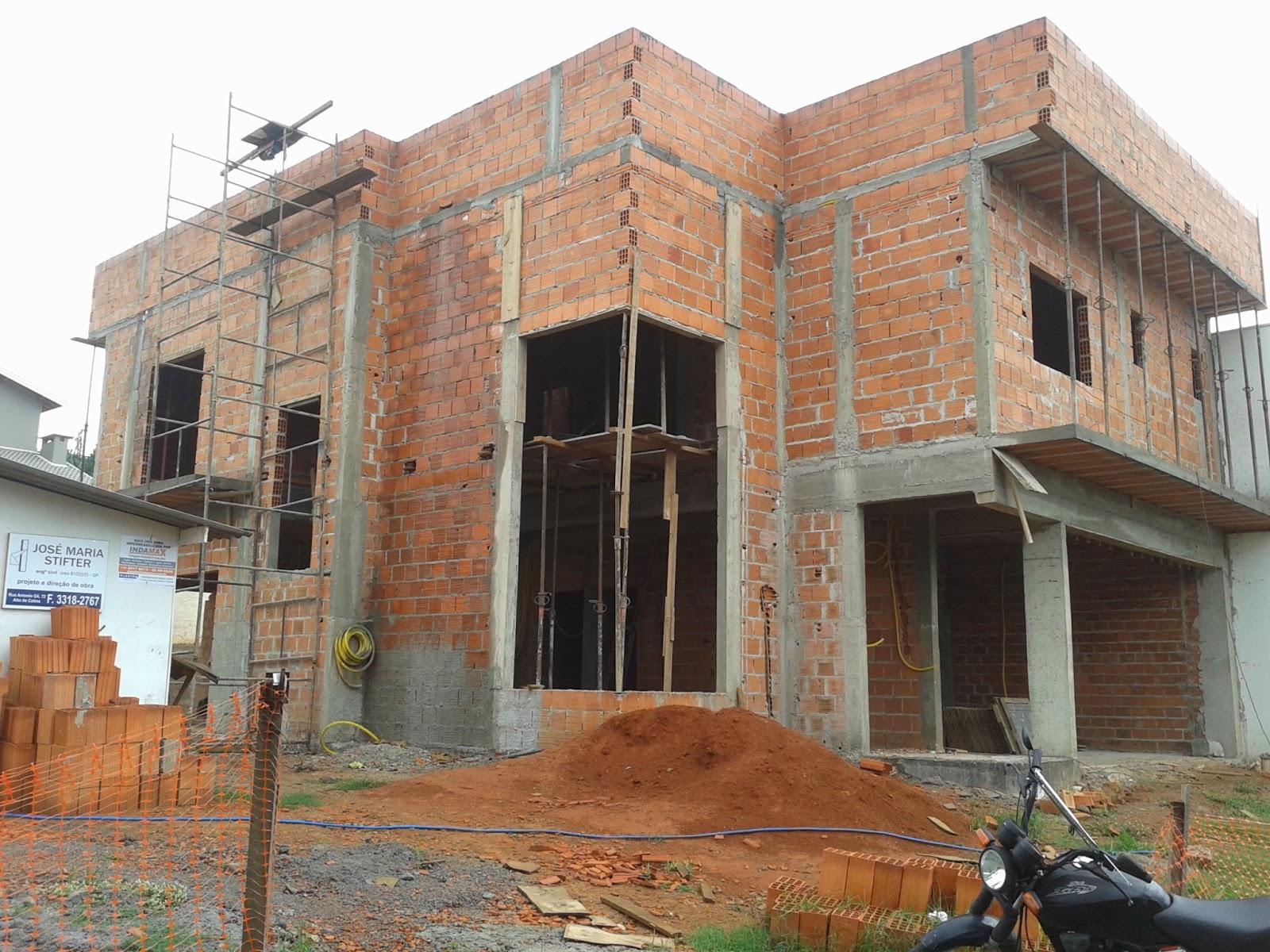 Construção de Rody e Fábio: 20/21/22a Semanas Platibanda/reboco  #915D3A 1600 1200